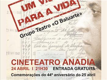 """Teatro em Anadia: """"Um visto para a vida"""" pelo Baluaarte"""