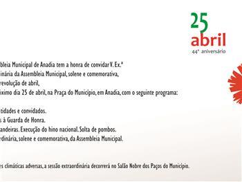 Anadia: Comemorações da Revolução de Abril de 1974