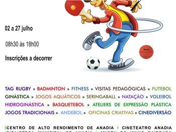 Anadia: Férias Desportivas e Culturais Verão 2018