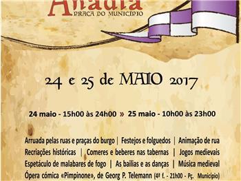 Anadia - Feira Medieval - 25 e 26 maio - Praça do Município