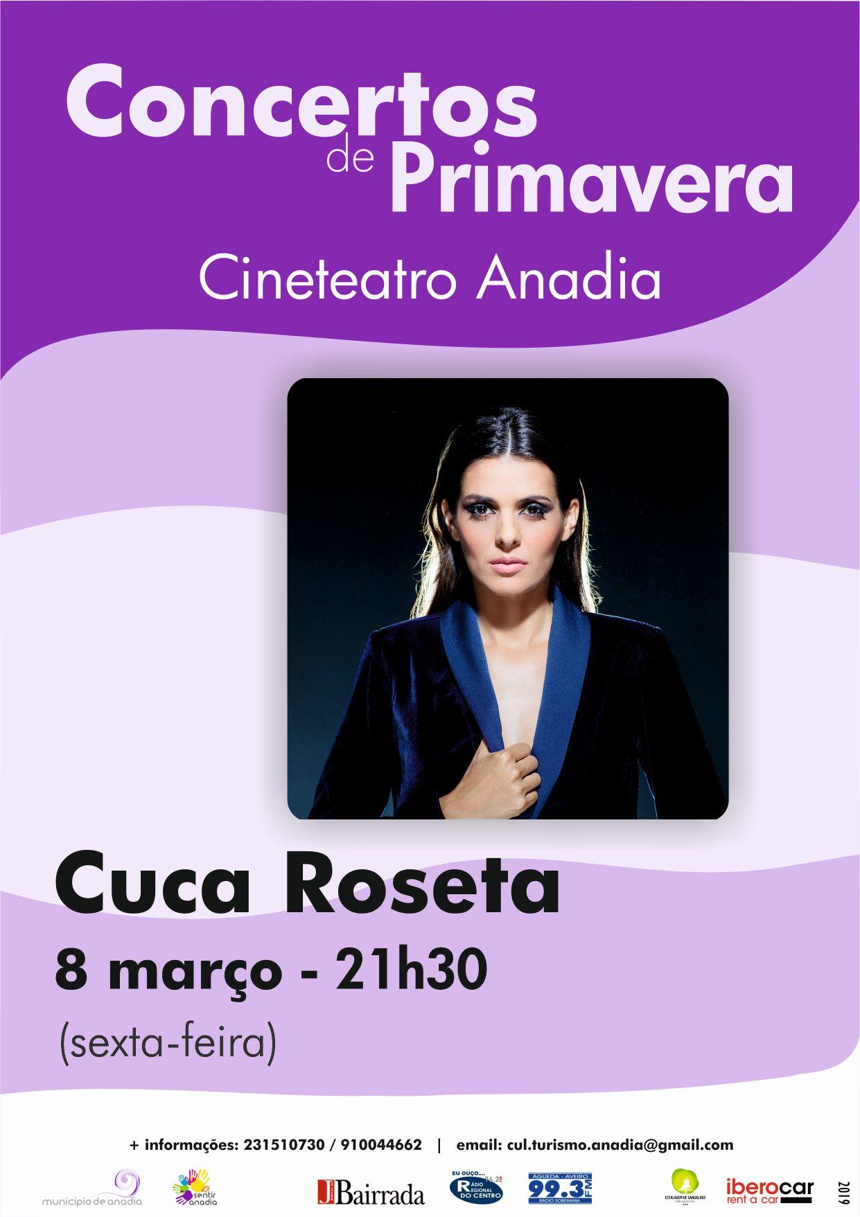 """Resultado de imagem para Cuca Roseta abre """"Concertos de Primavera"""" em Anadia"""