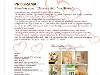 Programa Fim-de-Semana Mimos a Dois no Hotel Moliceiro