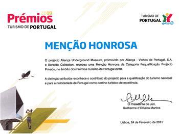 Aliança Underground Museum Distinguido pelo Turismo de Portugal